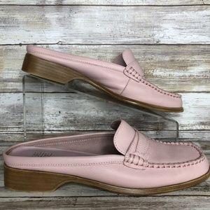 Mootsies Tootsies Manny ll 8.5M Pink Leather Mules